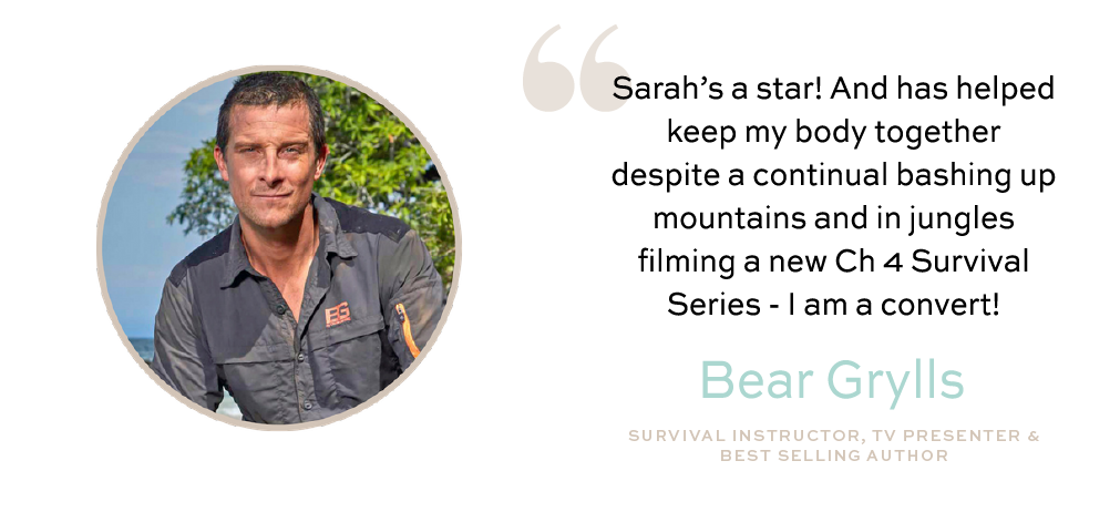 Sarah Yearsley Bear Grylls Testimonial